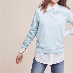 Anthropologie Blue Sweatshirt